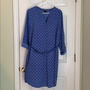 Blue long sleeve shirt dress from The Limited